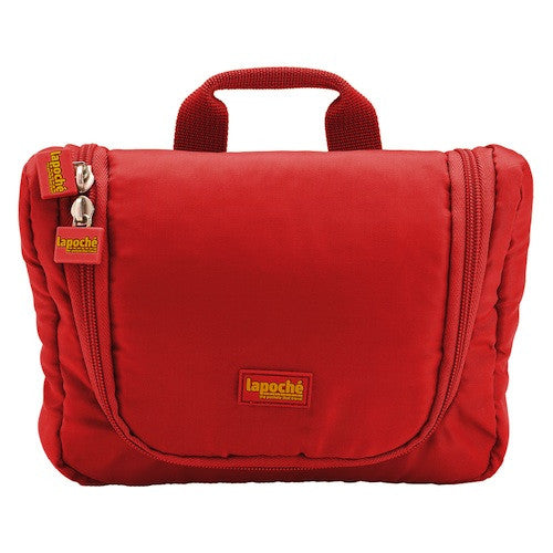 La Poche Travel Toiletry Organiser Bag | Red - Jetsettr.com.au - 1