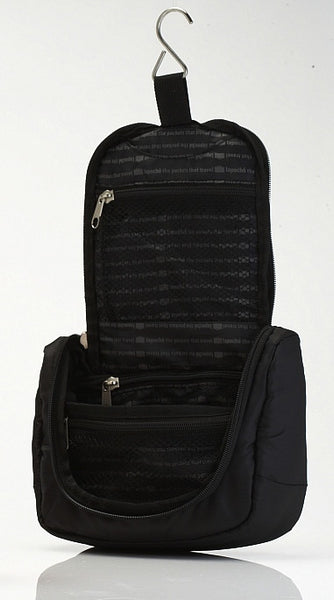 La Poche Travel Toiletry Organiser Bag | Black - Jetsettr.com.au - 2