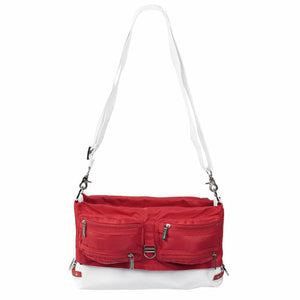 Tintamar Bi-Bag | 2-Way Shoulder Bag: White/Red