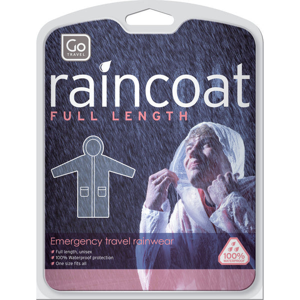 Go Travel Travel Raincoat: Clear - Jetsettr.com.au - 1