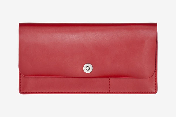 Corban & Blair Basics Leather Travel Wallet: Red - Jetsettr.com.au - 1