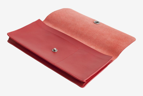 Corban & Blair Basics Leather Travel Wallet: Red - Jetsettr.com.au - 2