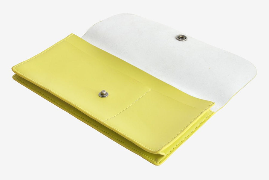 Corban & Blair Basics Leather Travel Wallet: Yellow - Jetsettr.com.au - 1