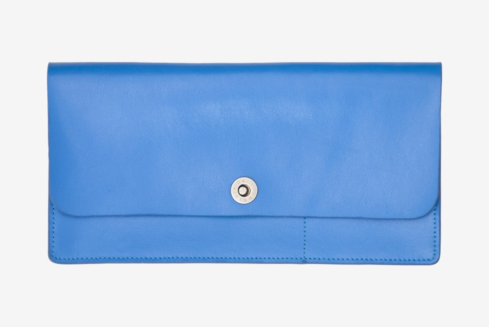 Corban & Blair Basics Leather Travel Wallet: Blue - Jetsettr.com.au - 1