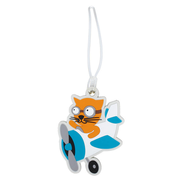 DQ & Co. Kids Luggage Tag: Flying Cat - Jetsettr.com.au - 3