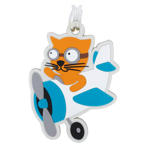 DQ & Co. Kids Luggage Tag: Flying Cat - Jetsettr.com.au - 1