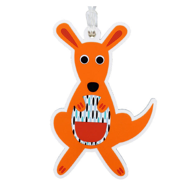 DQ & Co. Dressed Up Luggage Tag: Kangaroo - Jetsettr.com.au - 1