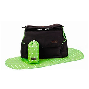 Jimeale New York Baby | Nappy Bag: Green Polka Dots - Jetsettr.com.au - 1