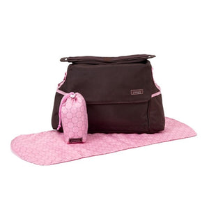 Jimeale New York Baby | Nappy Bag: Pink Circles - Jetsettr.com.au - 1