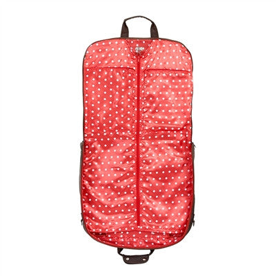 Jimeale New York Garment Bag: Red & White Polka Dots - Jetsettr.com.au - 1