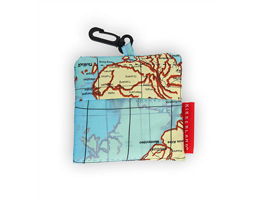 Kikkerland Travel Laundry Bag: Map - Jetsettr.com.au - 1