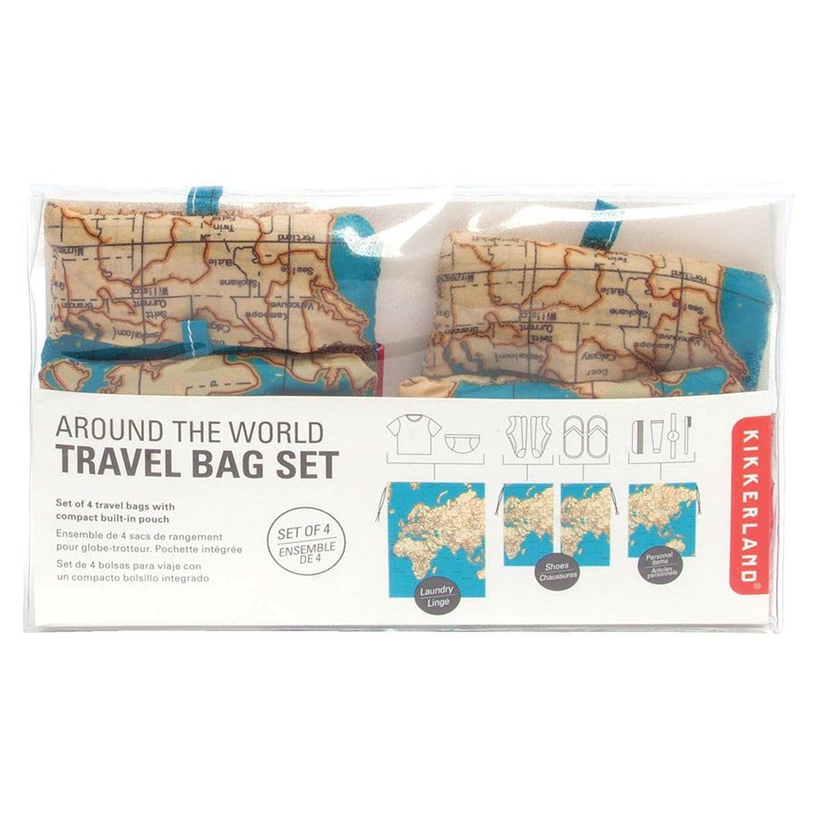 Kikkerland The World Travel Bag Set (4pc) - Jetsettr.com.au - 1
