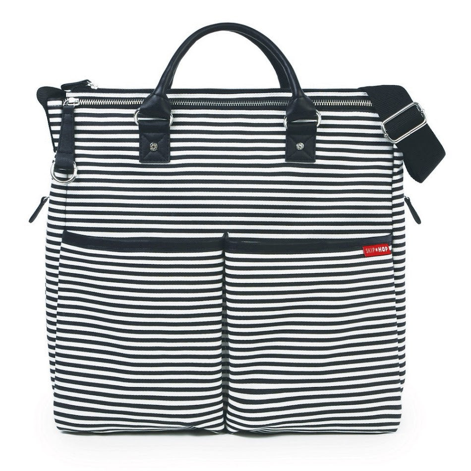 Skip Hop Duo Special Edition Nappy Bag: Black Stripe - Jetsettr.com.au - 1