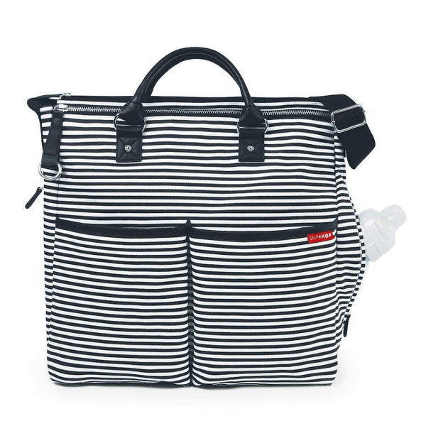 Skip Hop Duo Special Edition Nappy Bag: Black Stripe - Jetsettr.com.au - 2