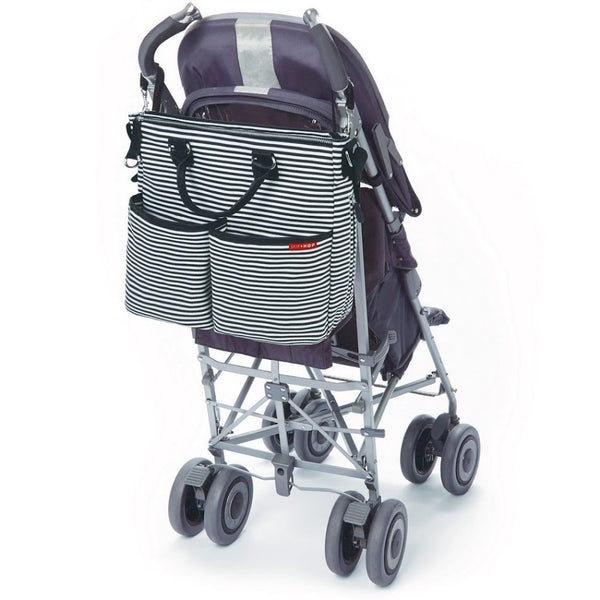 Skip Hop Duo Special Edition Nappy Bag: Black Stripe - Jetsettr.com.au - 3