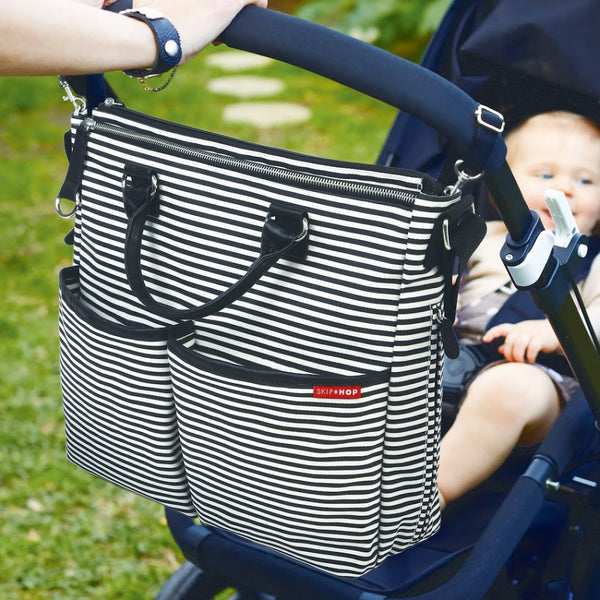 Skip Hop Duo Special Edition Nappy Bag: Black Stripe - Jetsettr.com.au - 4