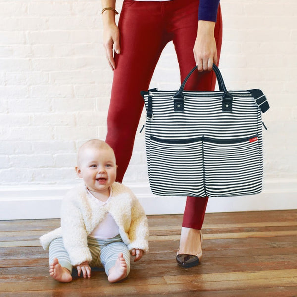 Skip Hop Duo Special Edition Nappy Bag: Black Stripe - Jetsettr.com.au - 5