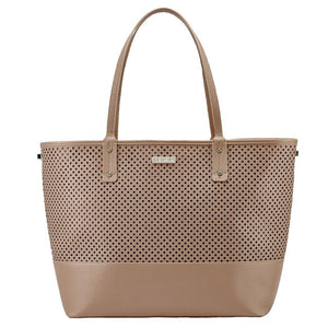 Skip Hop Duet 2-in-1 Tote Nappy Bag: Taupe - Jetsettr.com.au - 2