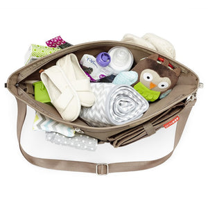 Skip Hop Duet 2-in-1 Tote Nappy Bag: Taupe - Jetsettr.com.au - 10