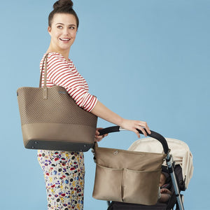 Skip Hop Duet 2-in-1 Tote Nappy Bag: Taupe - Jetsettr.com.au - 12