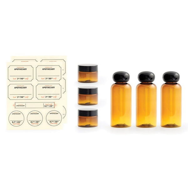 Kikkerland Apothecary Travel Bottle & Jar Set - Jetsettr.com.au - 1