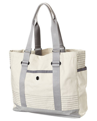 SunnyLIFE Hastings Beach Tote: Natural with Grey Trim - Jetsettr.com.au - 1