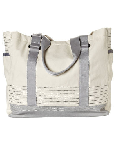 SunnyLIFE Hastings Beach Tote: Natural with Grey Trim - Jetsettr.com.au - 3