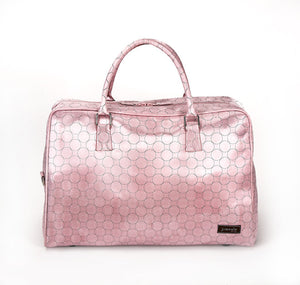 Jimeale New York Weekender Bag: Pink Circles - Jetsettr.com.au - 1