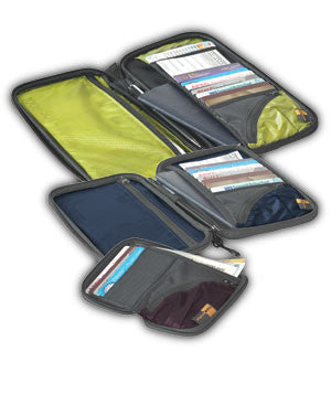 Sea To Summit TravellingLight Travel Wallet: Lime/Black - Jetsettr.com.au - 1