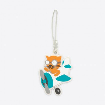 DQ & Co. Kids Luggage Tag: Flying Cat - Jetsettr.com.au - 4