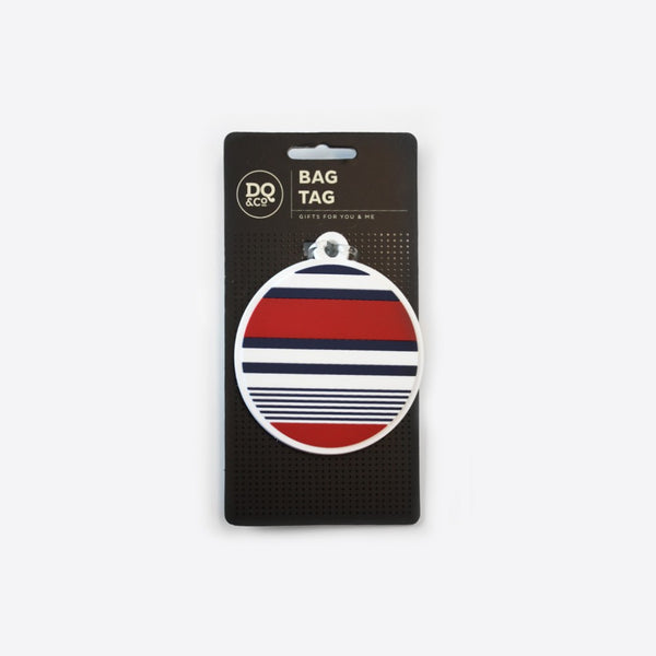 DQ Co. Luggage Tag: Sailor Stripes - Jetsettr.com.au - 2