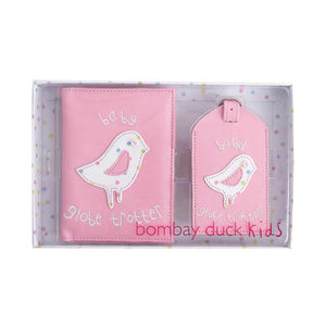 Bombay Duck Passport Cover & Luggage Tag GIFT SET - Baby Globe Trotter - Jetsettr.com.au - 1