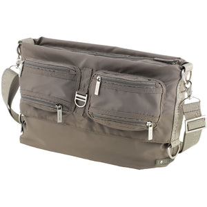 Tintamar Bi-Bag | 2-Way Shoulder Bag: Taupe - Jetsettr.com.au - 1