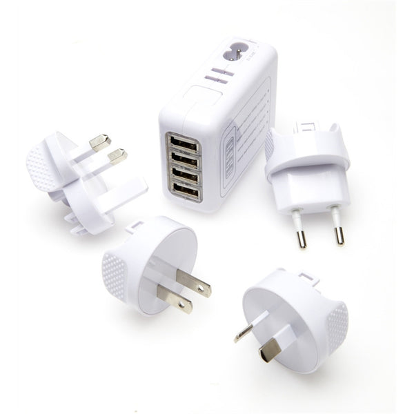 Korjo Worldwide* 4-Port USB Adaptor - Jetsettr.com.au - 1