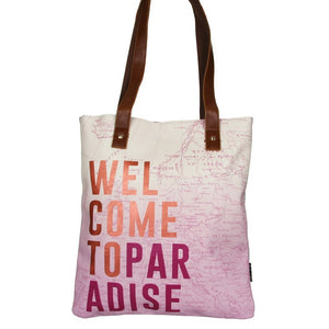 Disaster Designs Jet Lag Tote Bag: Welcome To Paradise - Jetsettr.com.au - 3