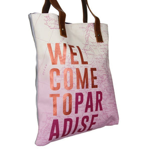 Disaster Designs Jet Lag Tote Bag: Welcome To Paradise - Jetsettr.com.au - 4