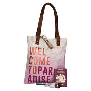 Disaster Designs Jet Lag Tote Bag: Welcome To Paradise - Jetsettr.com.au - 5