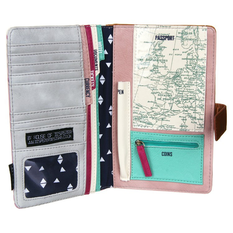 Disaster Designs Jet Lag Travel Wallet: Bon Voyage