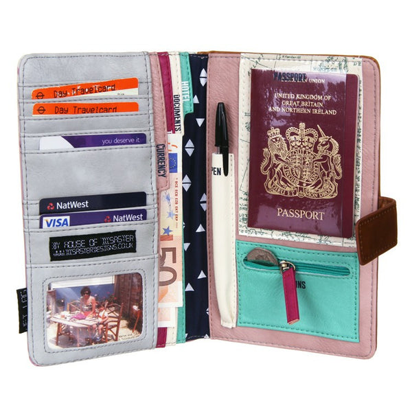 Disaster Designs Jet Lag Travel Wallet: Bon Voyage<br><MARK>WE'VE TAKEN 20% OFF!