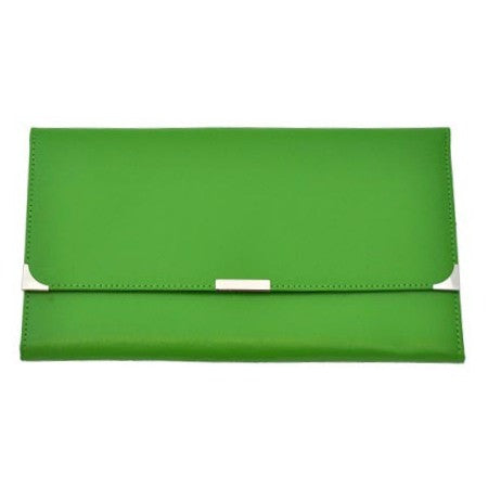 MC Travel LEATHER Travel Wallet: Lime - Jetsettr.com.au - 1