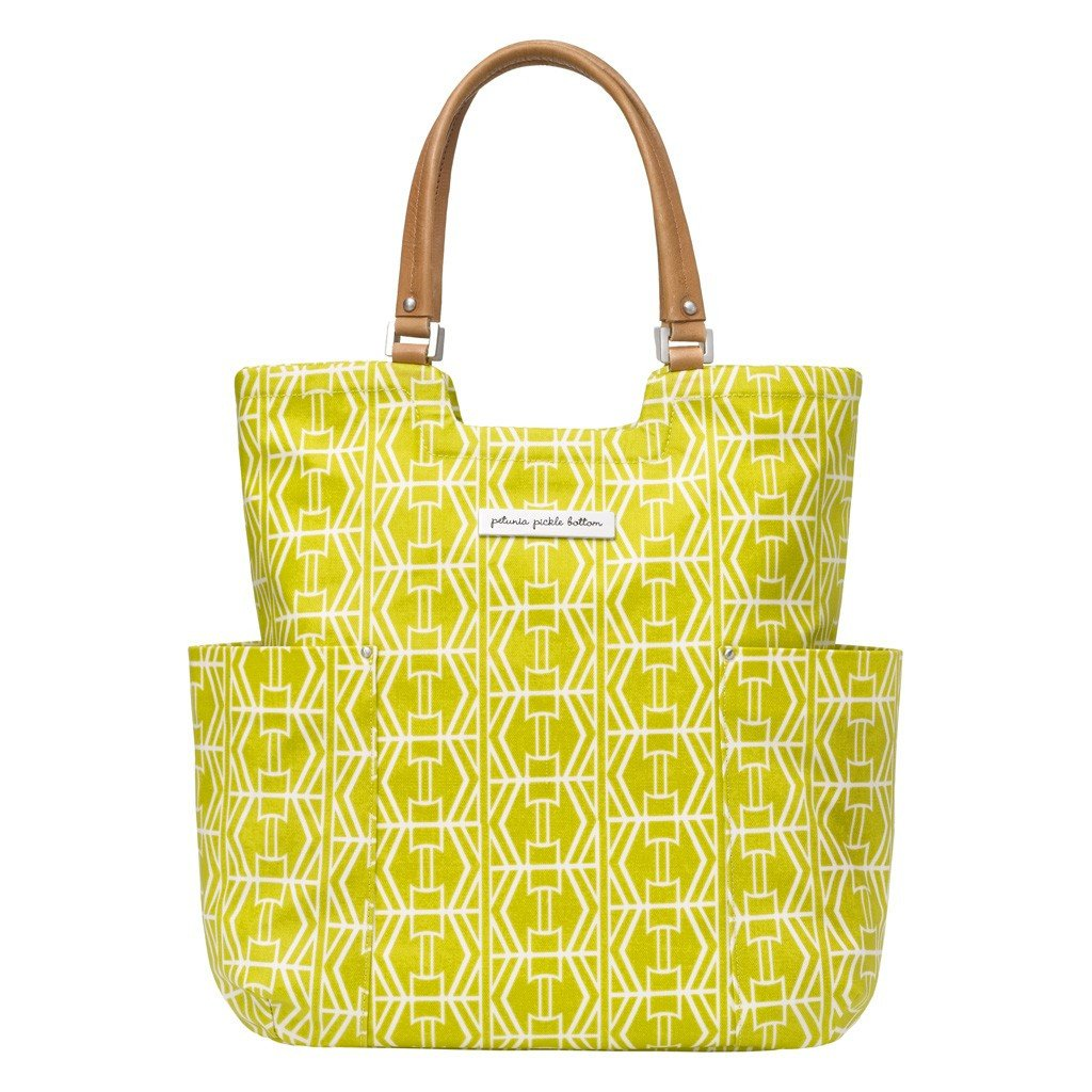 Petunia Pickle Bottom Tailored Tote - Electric Citrus