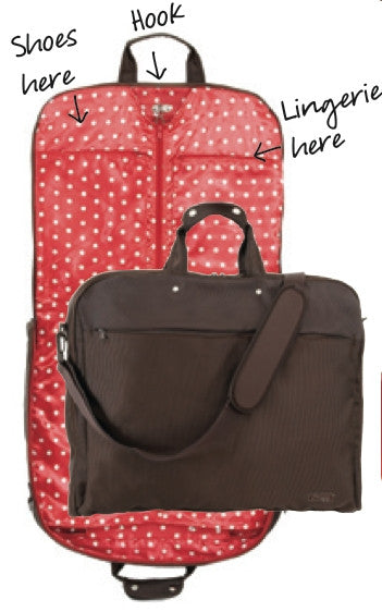 Jimeale New York Garment Bag: Red & White Polka Dots - Jetsettr.com.au - 3