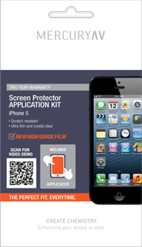 Mercury AV iPhone 5 Perfect Fit Screen Protector - Jetsettr.com.au