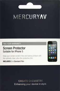 Mercury AV iPhone 5 Clear Screen Protector (2pk) - Jetsettr.com.au