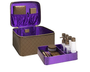 mini kittour Jet Setter Deluxe Travel Train Case: Chocolate - Jetsettr.com.au - 1