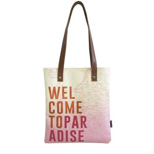 Disaster Designs Jet Lag Tote Bag: Welcome To Paradise - Jetsettr.com.au - 2