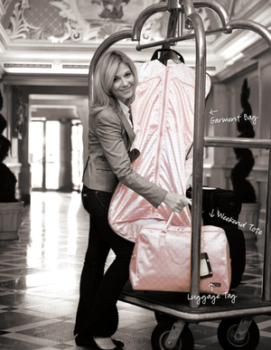 Jimeale New York Weekender Bag: Pink & White Polka Dots - Jetsettr.com.au - 3