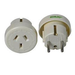 Korjo Travel Adaptor Australia > Europe - Jetsettr.com.au - 1