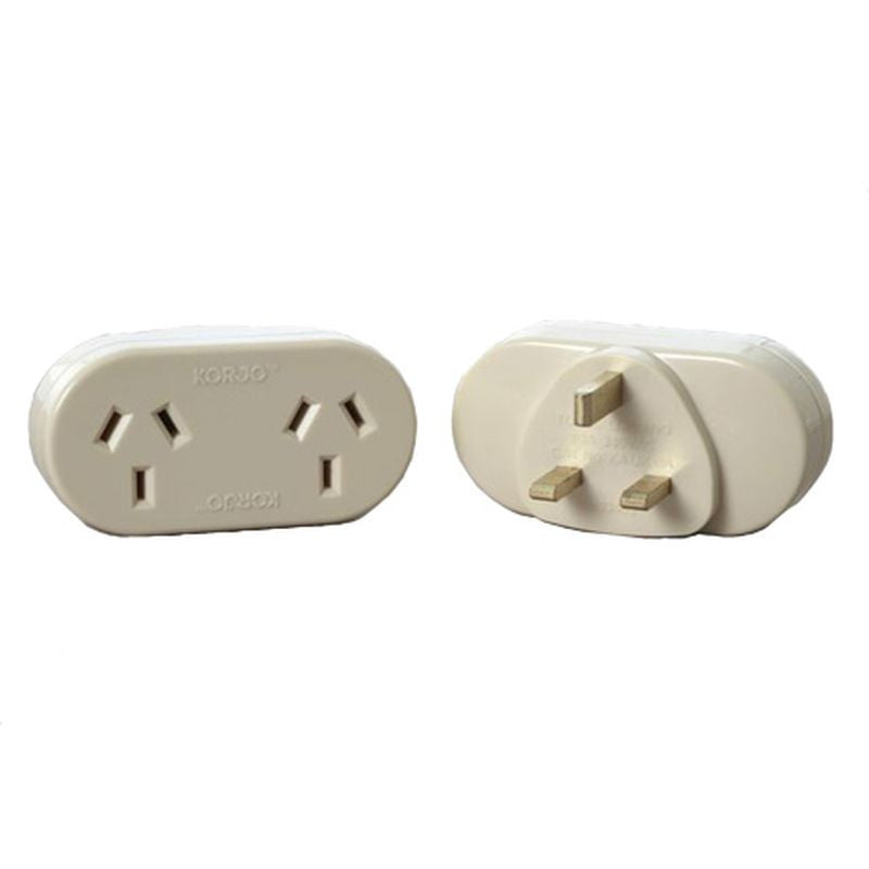 Korjo Double Travel Adaptor Australia > UK - Jetsettr.com.au