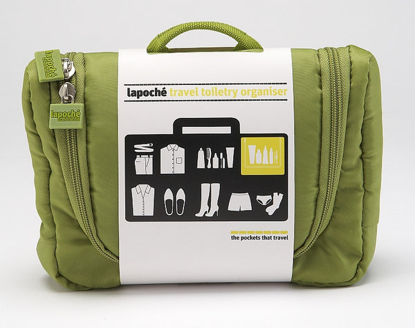 La Poche Travel Toiletry Organiser Bag | Green - Jetsettr.com.au - 2